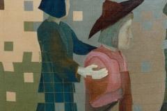 Amor mudo | Edinburgh 1995 | 80x80cm | Acrylic on canvas | SOLD